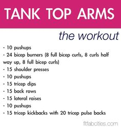 Daily workout for tank-top-arms