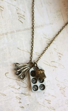 Little Chef Necklace. Tiny Measuring Spoon Silver