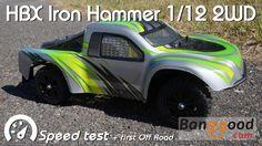 • HBX - IRON Hammer 1/12 2WD -  Speed test •
