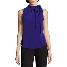 Buy Liz Claiborne® Sleeveless Tie-Neck Print Top today at jcpenney.com. You deserve great deals and we've got them at jcp!