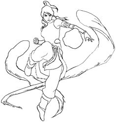 The legend of korra in action coloring pages mu ecas de for The legend of korra coloring pages