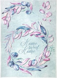 Rice Paper for Decoupage Decopatch Scrapbook Craft Sheet Vintage Home Sweet Home