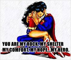 #superman #wonderwoman  Each other's hero