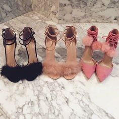Shoes: heels, furry heels, high heel sandals, feathers, chic, girly, clueless, party shoes, pom poms, pink heels, nude heels, black heels, nude, fluffy, stilettos, fur, high heels, fluffy heels, lace up heels, fur heels - Wheretoget