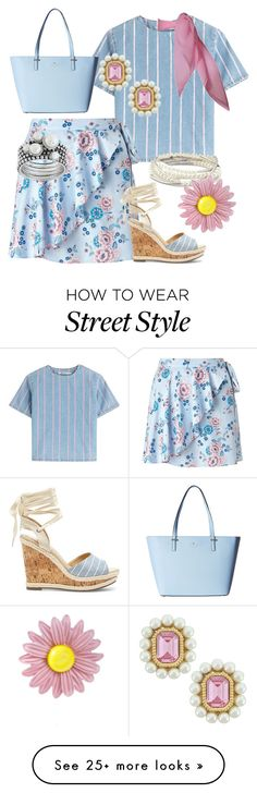 """baby blue"" by teresalovespink on Polyvore featuring T By Alexander Wang, Miss Selfridge, Sole Society, Chrysalis, 3AM Imports, Kate Spade, TC Fine Intimates and Ciner"
