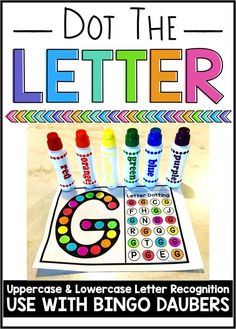 Letter recognition worksheets.  Use with bingo daubers, or even stickers, watercolors, or markers.