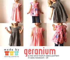 Cute toddler dress pattern with many modifications. geranium | Flickr - Photo Sharing!