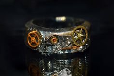 Steampunk / Clockpunk ring tutorial from real watch cogs 폴리머 클레이