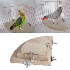 $2.19 AUD - Pet Parrot Wood Platform Stand Rack Toy Hamster Branch Perches For Bird Cage Hot #ebay #Home & Garden