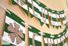 St. Patrick's Day Lucky Charm Banner; Free Printable
