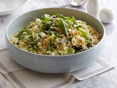 Giada's Tri-Colore Orzo : Giada dresses up barbecue with this beautiful and delicious Italian take on pasta salad.