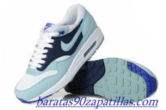 wholesale dealer f92b5 d5081 Nike Air Max 1 White Mint Candy Obsidian Women s Running Shoes for 2014