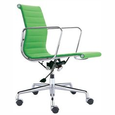 Green Eames chair: first thing I bought for the new place.