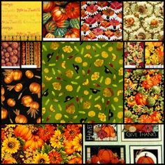 Halloween and Thanksgiving Fabric Sale ~ 30% off