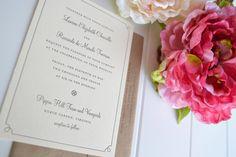 Classic Border Wedding Invitation by JPressDesigns on Etsy, $3.25