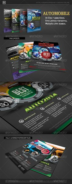 Multipurpose Promo Flyer V5 Flyer template, Print templates and - car flyer template