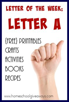 Studying the Letter A? Check out this HUGE List of resources to make the week FUN and memorable! :: www.homeschoolgiveaways.com