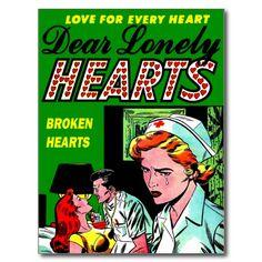 I Love a Doctor - Vintage Nurse Romance Post Card - Vintage Nursing Comic Book