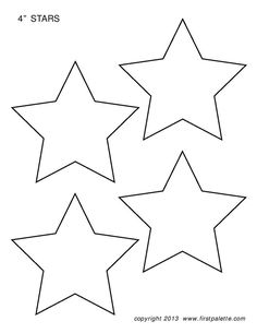 Printable Star Templates | Free Blank Star Shape PDFs ...