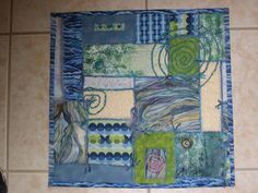 """""""Whirling Seas"""" wall hanging I made in an Architecture in Motion quilt class."""