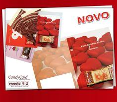 ¿Usted sabe que puede enviar su solicitud de una tarjeta con chocolate de su amor? Chocolate, Container, Gift Wrapping, Sweets, Cards, Gifts, 1, Food, Bonbon