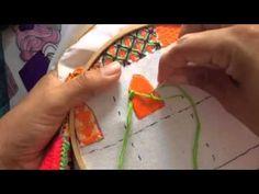 121.- Bordado fantasia pétalo de girasol de la niña granjer - YouTube