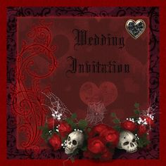 Romantic Gothic Wedding Invitations. Not For Everyone. Just For You!