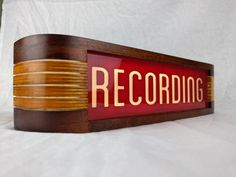 Recording Studio warning sign  Red/Vintage Cherry finish