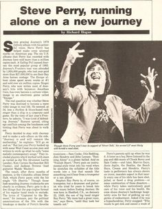 Steve Perry interview