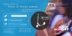 Did you know we extended the Women & Mobility Survey through February!?! Please complete and share with your networks! For those who share you have the chance to win an amazing prize! http://bit.ly/WomenMobilitySurvey