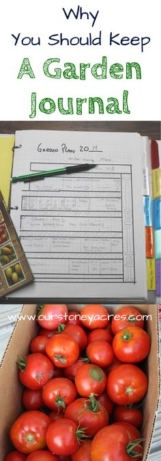 Garden Journal. An important part of gardening is keeping track of what has happened in your garden from year to year. A garden Journal is the perfect place to keep things organized.