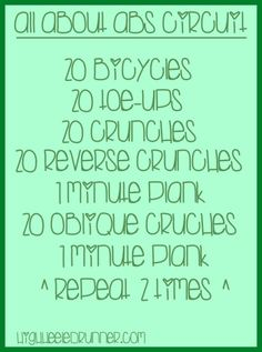 All About Abs Circuit via Running In Heels