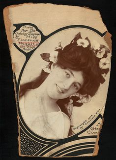 Evelyn Nesbit. Beautiful antique advertisement