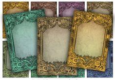 Digital Collage Sheet Download - Antique Frames -  637  - Digital Paper - Instant Download Printable vintagebyme 3.24 EUR