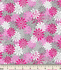 Snuggle Flannel Fabric-Petal Texture Pink/Gray