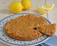 Sbriciolata fredda al limone, torta fredda senza cottura in forno