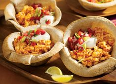 Mexican Eggs in Tortilla Cups Recipe from AllWhites and Better'n Eggs. Substitute fat-free sour cream (or greek yogurt), fat-free cheese, and don't put in a a tortilla.