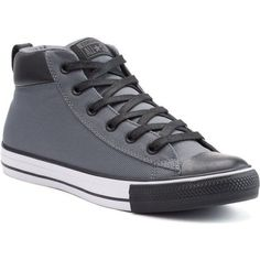 follow me @cushite Men's Converse Chuck Taylor All Star Street Mid Sneakers ($60) ❤ liked on…