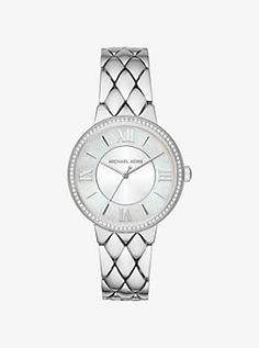 543bf7855 Courtney Pavé Silver-Tone Watch Michael Kors Rose Gold, Michael Kors Watch,  Michael