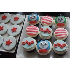 Cookies and Cupcakes for Thomas Tank Engine theme 2nd birthday by Vanilla