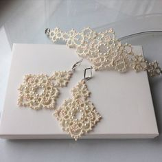 VK is the largest European social network with more than 100 million active users. Tatting Earrings, Tatting Jewelry, Lace Jewelry, Tatting Lace, Diy Jewelry, Jewelery, Crochet Earrings, Jewelry Necklaces, Bride Earrings
