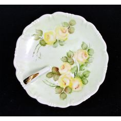 Porcelain Candy Dish, Nut Dish, Trinket Dish, Ring Dish, Vintage, Hand... ($13) ❤ liked on Polyvore featuring home and home decor
