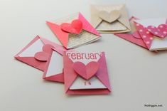 DIY mini love notes for Valentine's Day