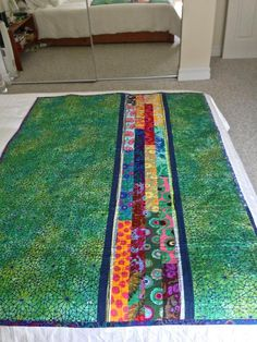 Quilting: Kaffe Fassett Quilt 3 - Back of Quilt