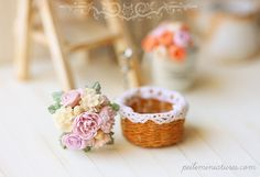 Dollhouse Miniatures, Miniature Food Jewelry, Craft Classes: Newly improved dollhouse miniature english roses