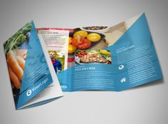 Nutritionist dietitian tri fold brochure word template for Nutrition brochure template