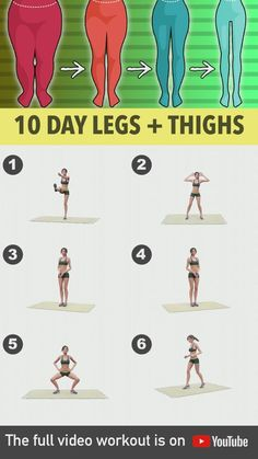 Fitness Workouts, Gym Workout Videos, Gym Workout For Beginners, Fitness Workout For Women, Full Body Gym Workout, Fat Workout, Thigh Exercises, Bodyweight Leg Exercises, Exercise Everyday