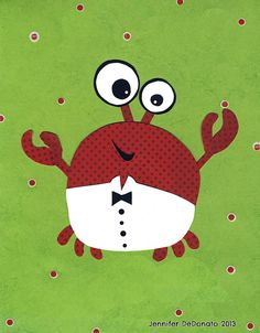 Reggie the crab by Colorfly Studio - looks like a cute monster!