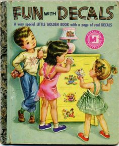 Little Golden Book... Fun with Decals...1952...A edition...no decals