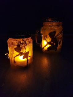 """Magische Feenlaterne: """"Fee im Glas"""" basteln mit Kindern [Upcycling] mysterious effect we matt the glass. Brush your glass around with clear-drying craft glue. Glue Crafts, Diy And Crafts, Fairy Lanterns, Vegetable Storage, Fairy Jars, Farmhouse Style Decorating, Woodland Party, Decoration, Pumpkin Carving"""